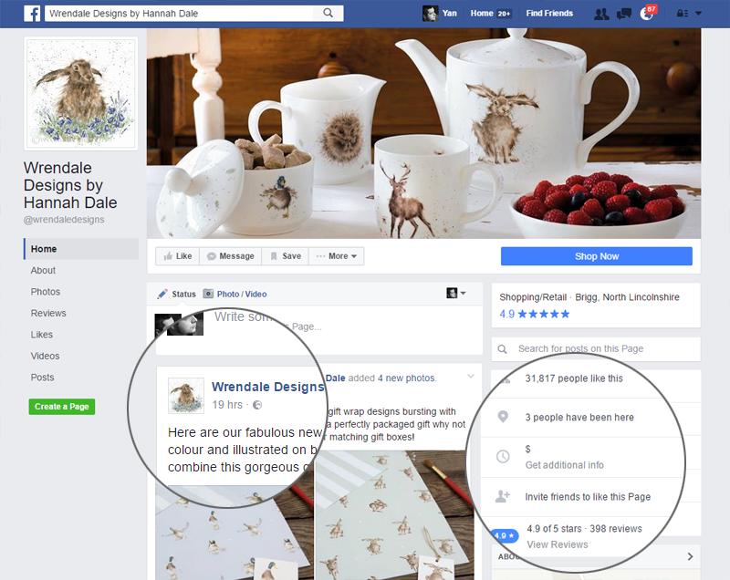 представительство интернет-магазина в фейсбуке для привлечения клиентов и увеличения продаж