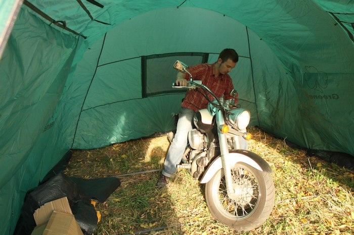 Проверка палатки в полевых условиях