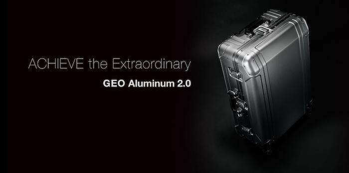 Слоган и удачное фото в интернет-магазине алюминиевых чемоданов