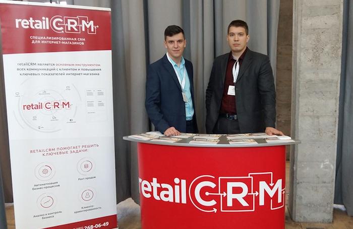 Андрей Юкин с коллегой, разработчики системы автоматизации интернет-магазина