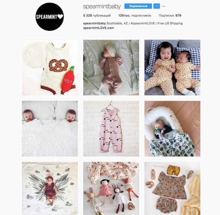 Аккаунт интернет-магазина детской одежды, «выросший» из сообщества мам