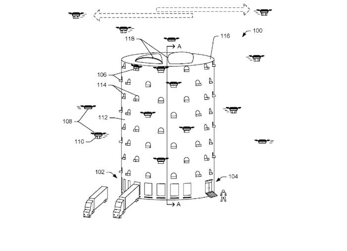 Схема многоуровневого склада для дронов