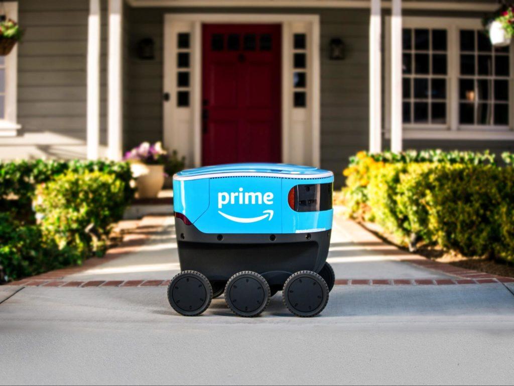 amazon доставляет роботами