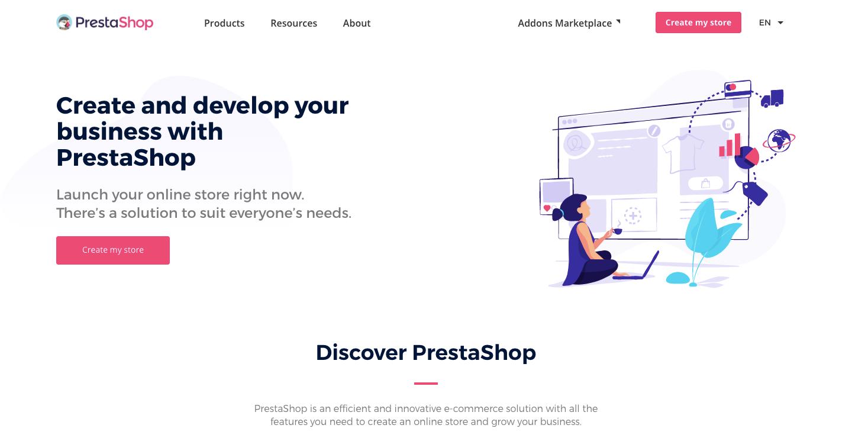 платформа для электронной коммерции prestashop