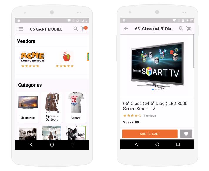 мобильное приложение cs-cart
