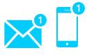 Для уведомлений лучше всего подходят письма электронной почты и SMS